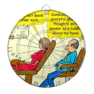 892 Private thought bubble therapist cartoon Dartboard