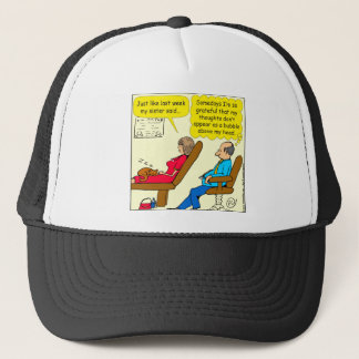892 Private thought bubble therapist cartoon Trucker Hat