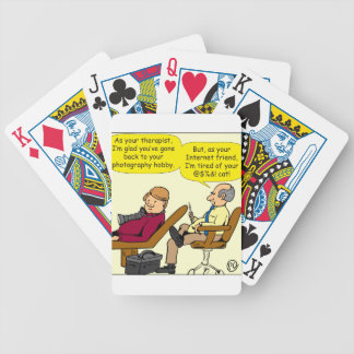 894 tired of your cat cartoon bicycle playing cards