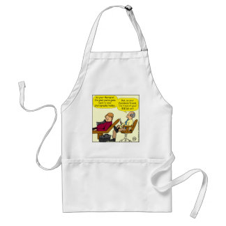 894 Tired of your cat cartoon Standard Apron