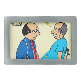 897 I don't exercise doctor patient cartoon Belt Buckles