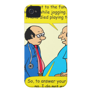897 I don't exercise doctor patient cartoon Case-Mate iPhone 4 Cases