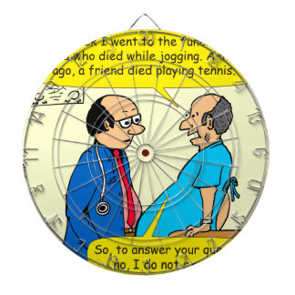 897 I don't exercise doctor patient cartoon Dartboard