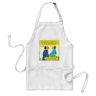 897 I don't exercise doctor patient cartoon Standard Apron