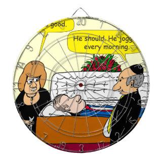 898 He looks good funeral cartoon Dartboard