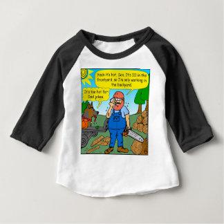 899 111 in front yard bad dad joke cartoon baby T-Shirt