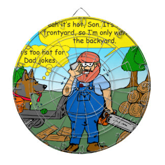 899 111 in front yard bad dad joke cartoon dartboard