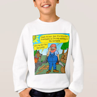 899 111 in front yard bad dad joke cartoon sweatshirt