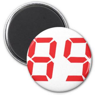 89 eighty-nine red alarm clock digital number magnets