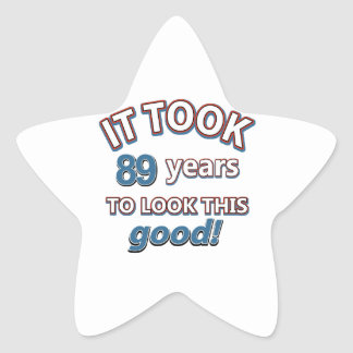 89th year birthday designs stickers
