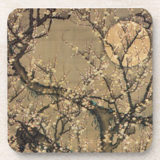 8. 梅花晧月図, 若冲 Moon and Plum blossoms, Jakuchū Beverage Coasters