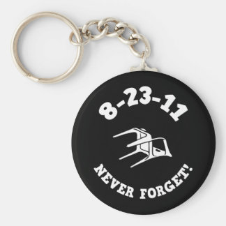 8-23-11 Never Forget! Basic Round Button Key Ring