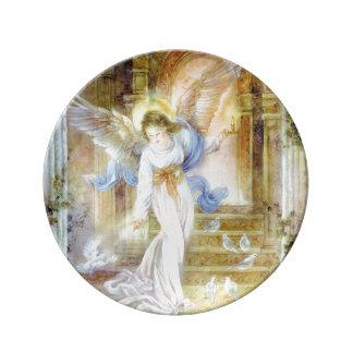 "8.5"" Decorative Porcelain Plate "" Angel Of Light"""