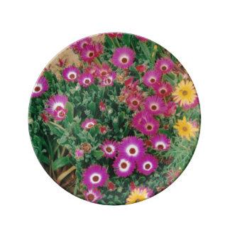 """8.5"""" Decorative Porcelain Plate flowers"""