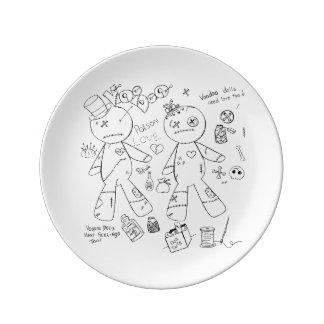 """8.5"""" Decorative Porcelain Voodoo Plate Porcelain Plates"""