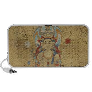 8 Arm Guan Yin Doodle Speaker Crackle Background
