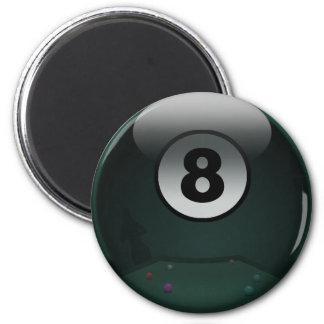 8-Ball 6 Cm Round Magnet