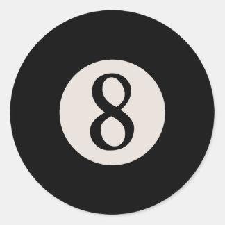 8-Ball 8 Classic Round Sticker