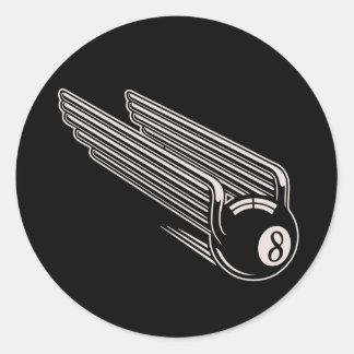 8-Ball - Aero Wings Classic Round Sticker