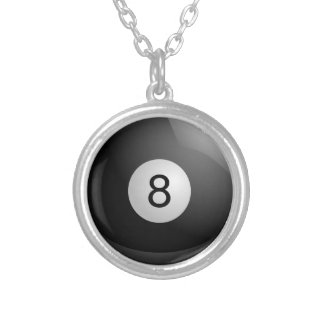 8 Ball Billiards Pool Pendant Necklace