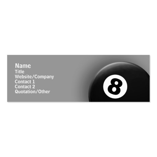 8 Ball Business Cards