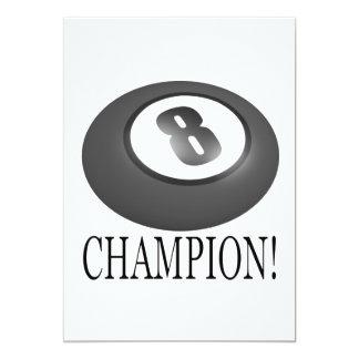 8 Ball Champion 5x7 Paper Invitation Card