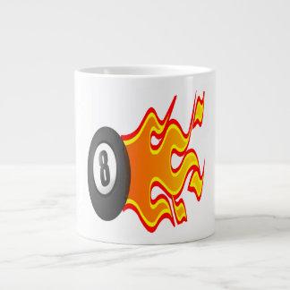 8 Ball Fire Jumbo Mug