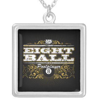8 Ball Vintage Design Silver Plated Necklace