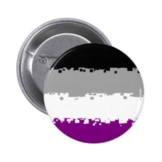 8 Bit Asexual Pride Flag 6 Cm Round Badge