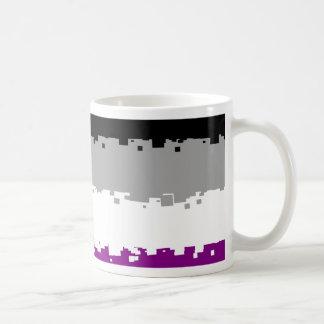 8 Bit Asexual Pride Flag Basic White Mug