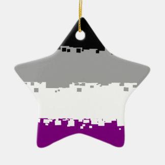 8 Bit Asexual Pride Flag Ceramic Star Decoration