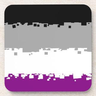 8 Bit Asexual Pride Flag Coaster
