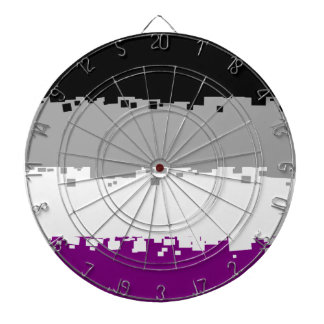 8 Bit Asexual Pride Flag Dartboards