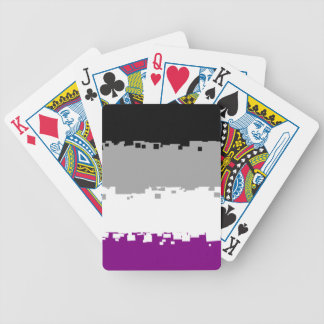 8 Bit Asexual Pride Flag Deck Of Cards