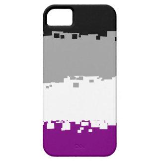 8 Bit Asexual Pride Flag iPhone 5 Cases