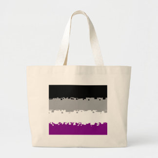 8 Bit Asexual Pride Flag Jumbo Tote Bag