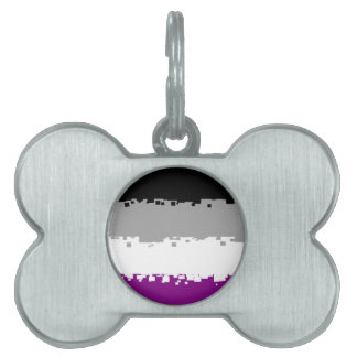 8 Bit Asexual Pride Flag Pet ID Tag