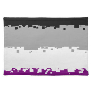 8 Bit Asexual Pride Flag Placemats