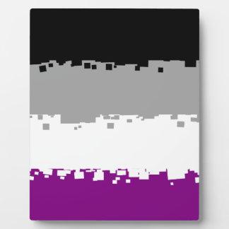 8 Bit Asexual Pride Flag Plaque