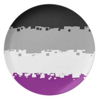 8 Bit Asexual Pride Flag Plates
