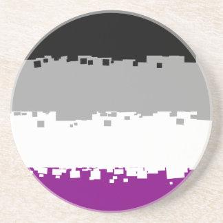 8 Bit Asexual Pride Flag Sandstone Coaster