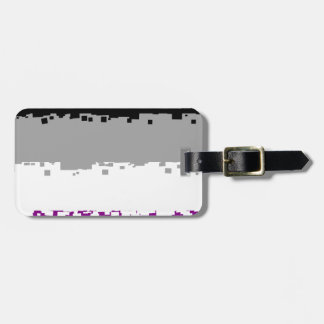 8 Bit Asexual Pride Flag Tag For Bags