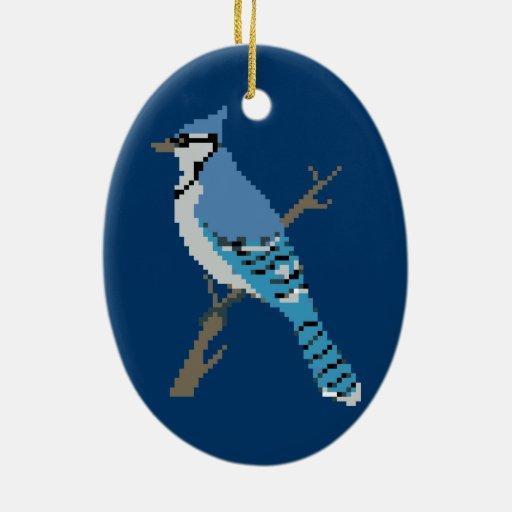 8 bit bluejay sprite ceramic oval decoration zazzle for 8 bit decoration