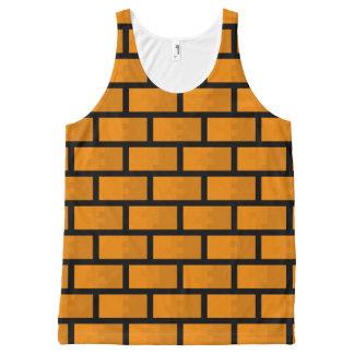 8 Bit Brick Wall All-Over Print Tank Top