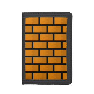 8 Bit Brick Wall Trifold Wallet