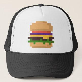 8-bit burger hat