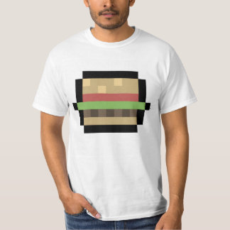 8-Bit Burger Pixel Art T-Shirt