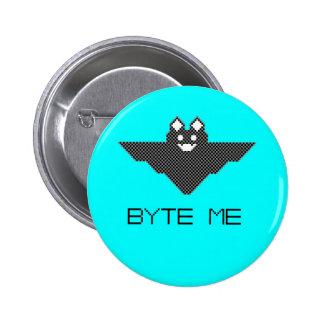 8-Bit Byte Me Cute Vampire Bat  Pixel Art 6 Cm Round Badge