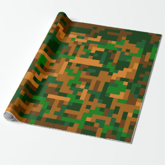 8 Bit Camouflage Wrapping Paper
