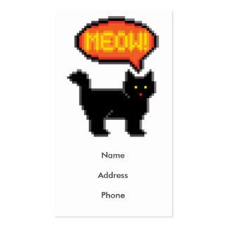 8-Bit Cat Pack Of Standard Business Cards